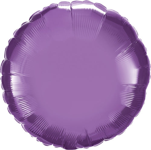 Chrome Purple Round Mylar Balloon 18""
