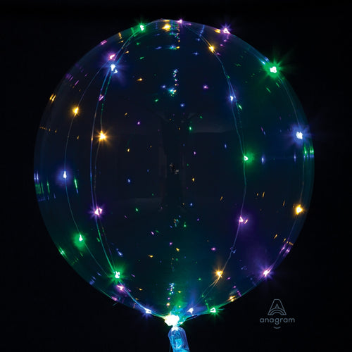 Multicolor Light-Up Clear Balloon - Crystal Clearz