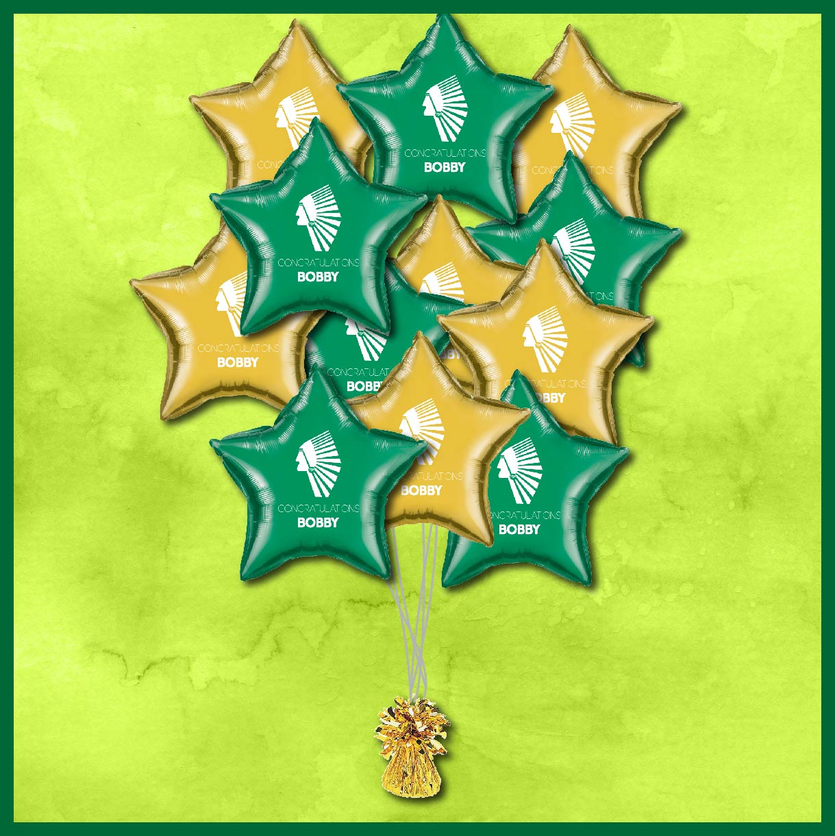 McAllen Rowe Warriors Graduation Balloons 12ct