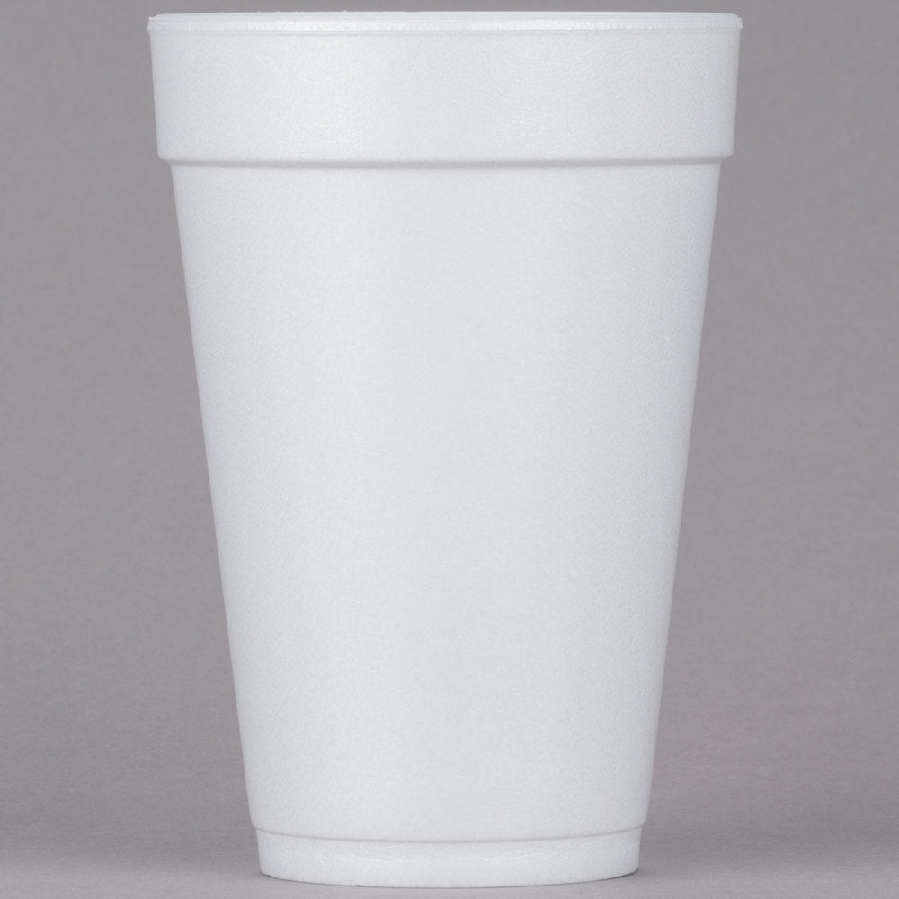 Dart 16J16 16 oz. White Foam Cup - 25/Pack