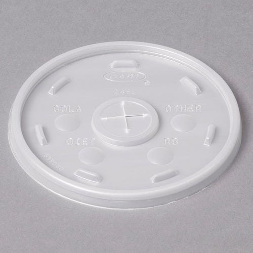 Dart 24SL05 Translucent Lid With Straw Slot - 100/Pack