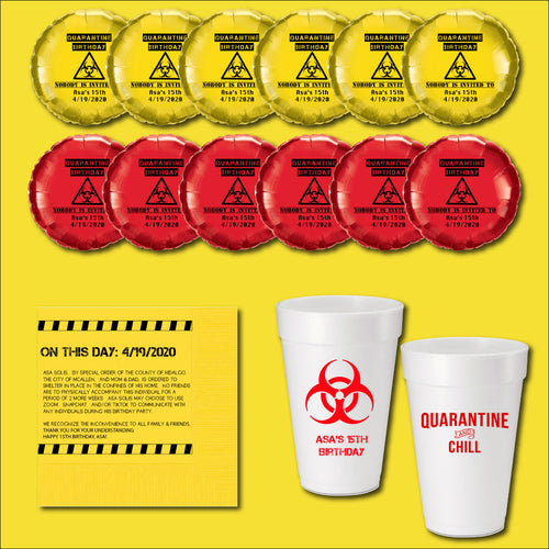 Custom Printed Quarantine Birthday Party Package