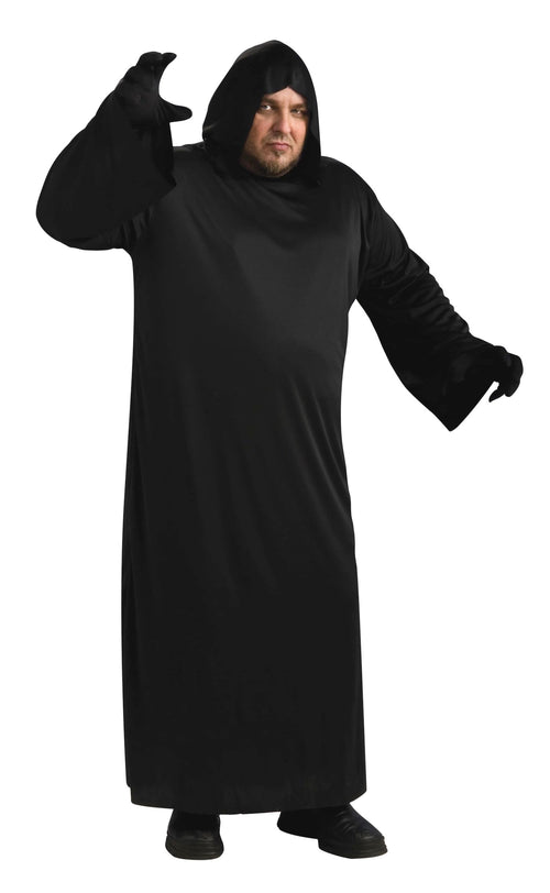 Adult Black Hooded Robe