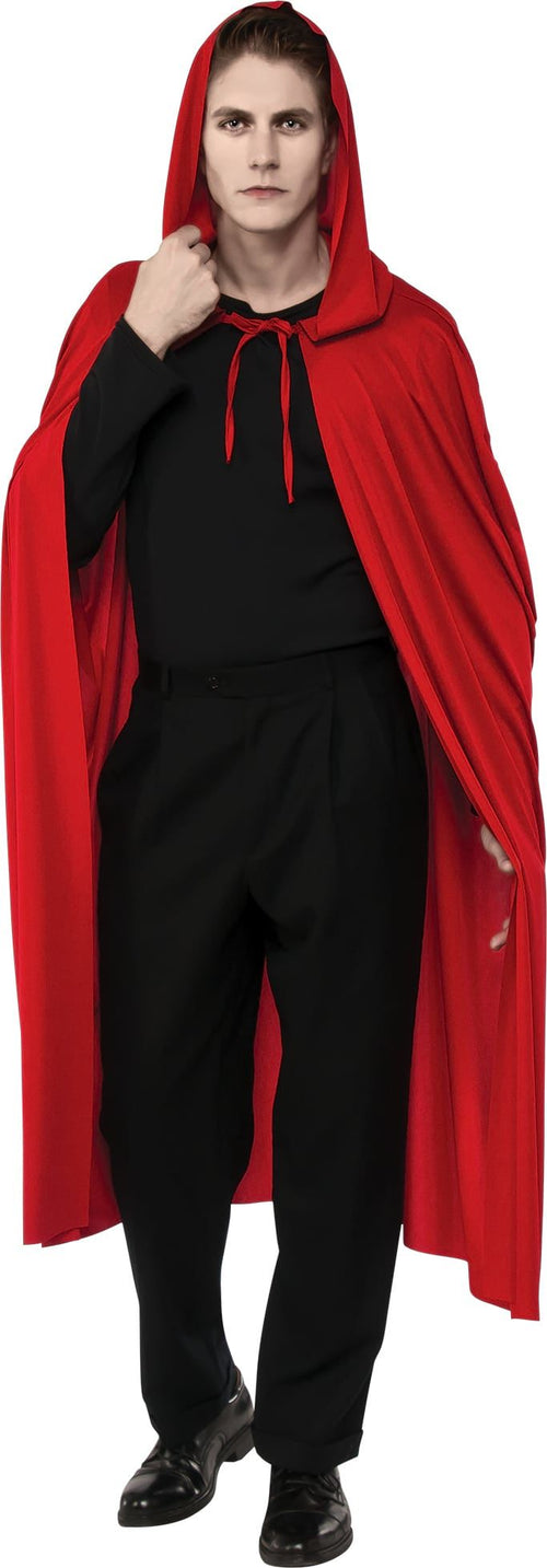 Adult Long Red Hooded Cape