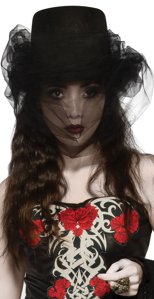 Gothic Black Top Hat