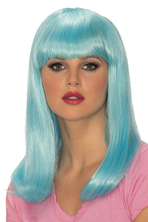 Glow in the Dark Blue Babe Wig