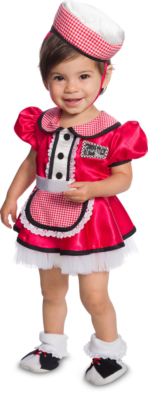 Toddler Girls 50s Diner Baby Costume