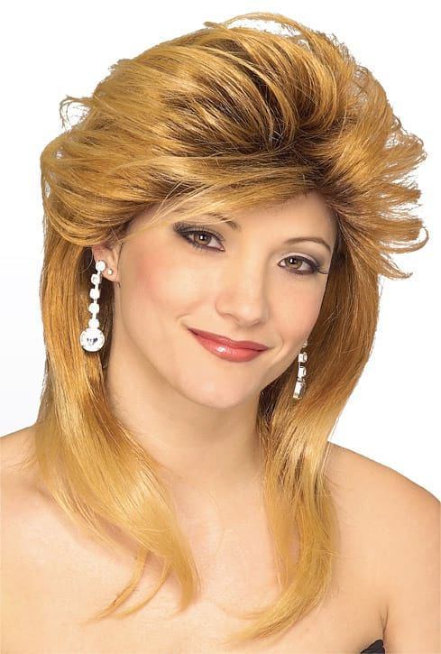 Blonde Used Car Sales Girl Wig