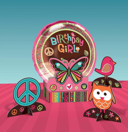 Amscan 60s Hippie Chick Balloon Centerpiece