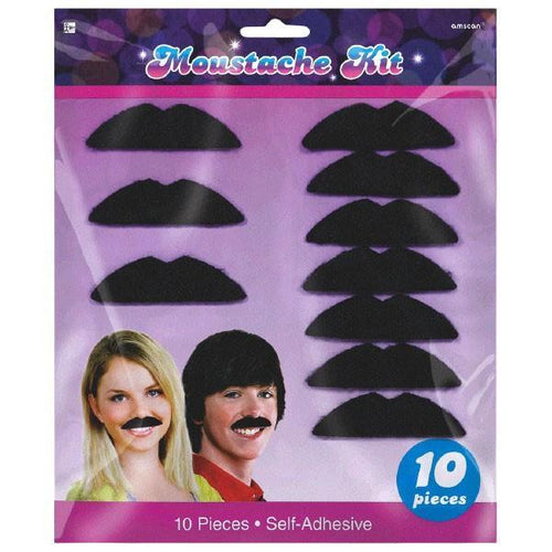 Amscan 70s 70s Disco Mustaches 10ct