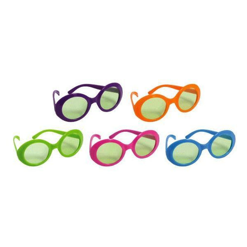 Amscan 70s 70s Glasses Solid Colors Assortment 10ct