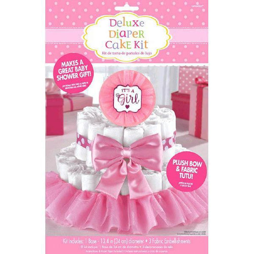 Amscan Baby Shower Deluxe Diaper Cake Kit - It's a Girl