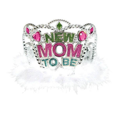 Amscan Baby Shower Mom To Be Tiara w/Marabou - Baby Shower