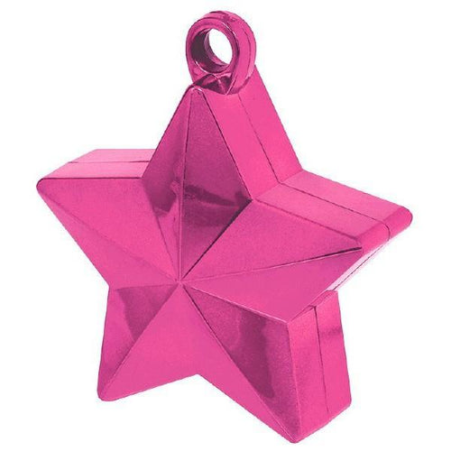Amscan Balloon Weights Bright Pink Star Foil Balloon Weight