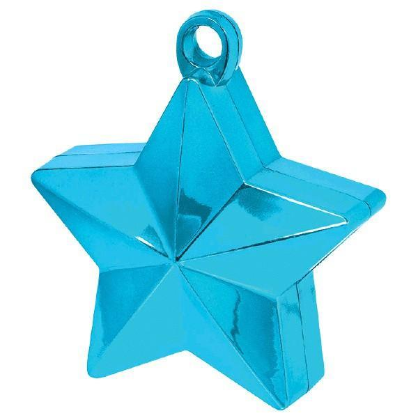 Amscan Balloon Weights Caribbean Blue Star Foil  Balloon Weight