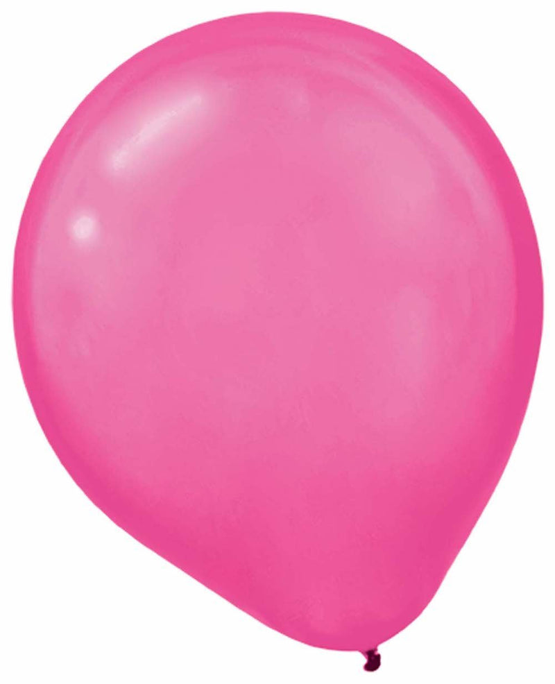 Amscan Balloons Bright Pink Pearlized Balloons 100ct
