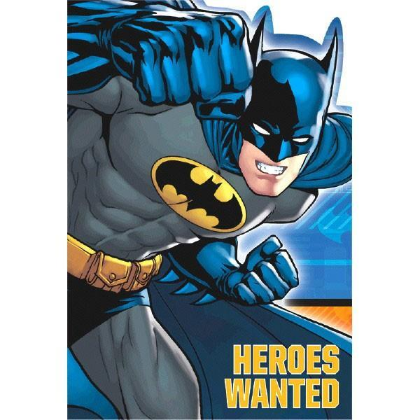 AMSCAN BIRTHDAY Batman Postcard Invitations 8ct
