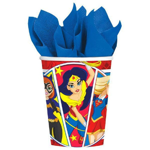 Amscan Birthday DC Super Hero Girl 9 oz. Cups 8ct