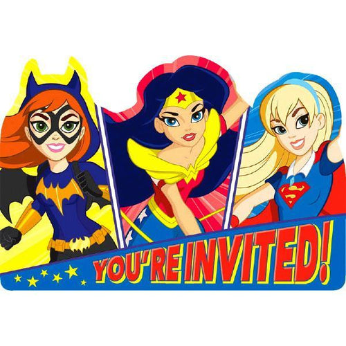 Amscan Birthday DC Super Hero Girl Birthday Party Invitations 8ct