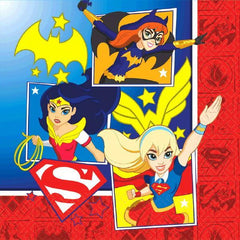 Amscan Birthday DC Super Hero Girls Lunch Napkins 16ct