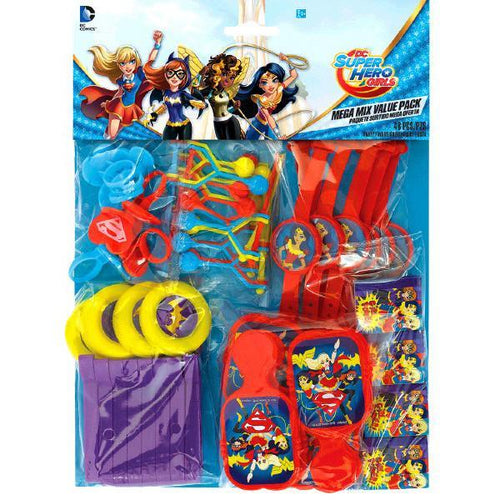 Amscan Birthday DC Super Hero Girls Party Favors Pack 48pc