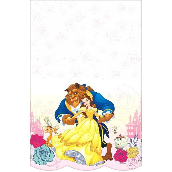 Amscan BIRTHDAY ©Disney Beauty And The Beast Plastic Table Cover