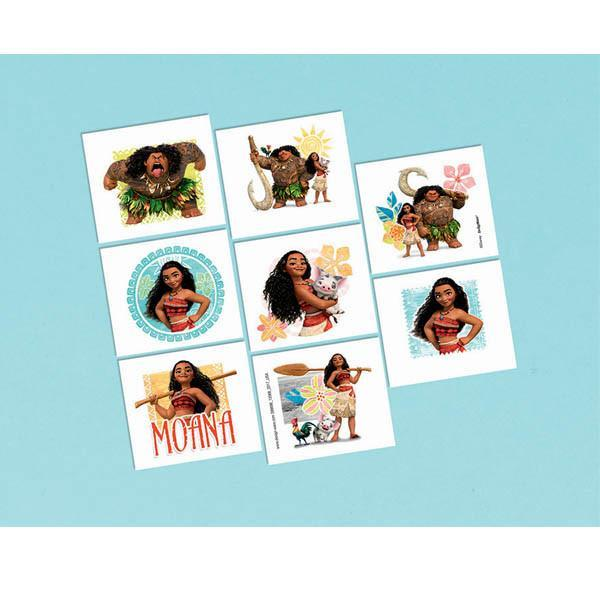 AMSCAN BIRTHDAY ©Disney Moana Tattoos 16ct