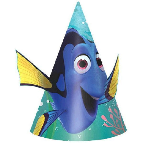 Amscan BIRTHDAY ©Disney/Pixar Finding Dory Birthday Cone Hats 8ct
