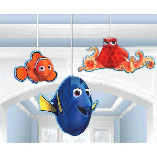 Amscan BIRTHDAY ©Disney/Pixar Finding Dory Honeycomb Decoration 3pc