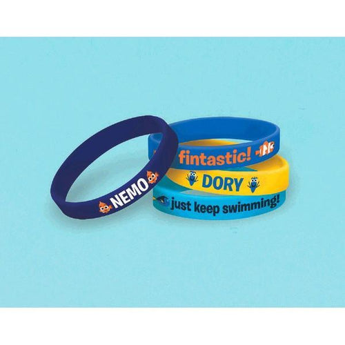 Amscan BIRTHDAY ©Disney/Pixar Finding Dory Rubber Wristbands 4pc