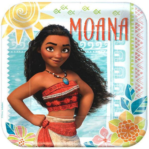 AMSCAN BIRTHDAY Disney's Moana Lunch Plates 8ct