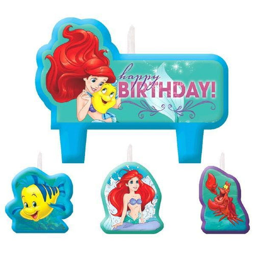 AMSCAN BIRTHDAY Little Mermaid Birthday Candle Set