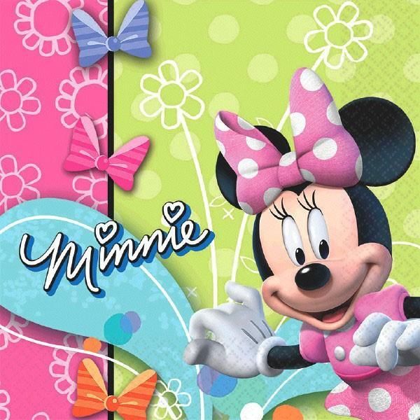 AMSCAN BIRTHDAY Minnie Mouse Lunch Napkins 16ct