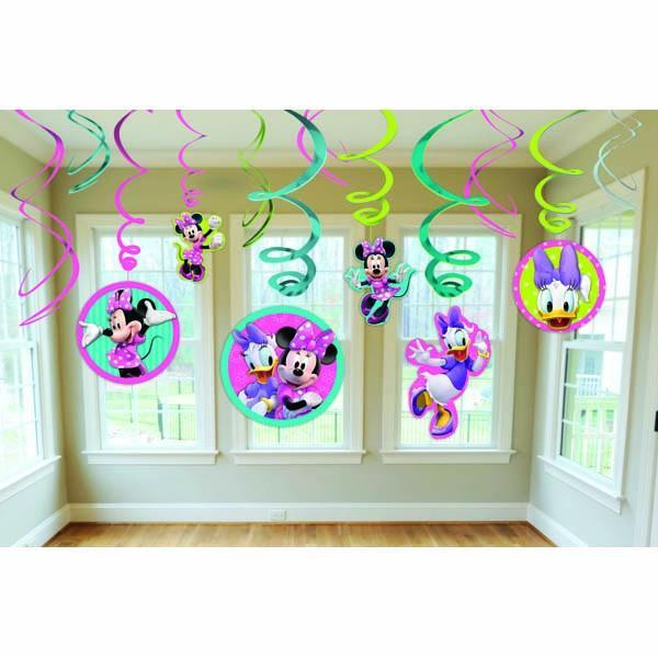 AMSCAN BIRTHDAY Minnie Mouse Swirl Pack 12ct