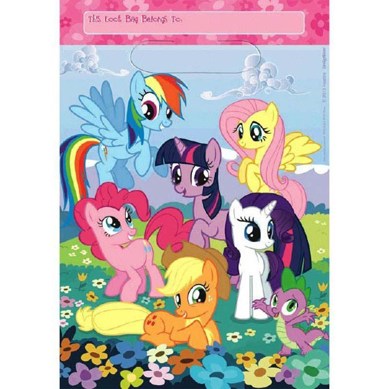 AMSCAN BIRTHDAY My Little Pony Party Favor Bags 8ct