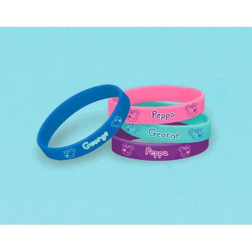 AMSCAN BIRTHDAY Peppa Pig (tm) Wristbands 4ct