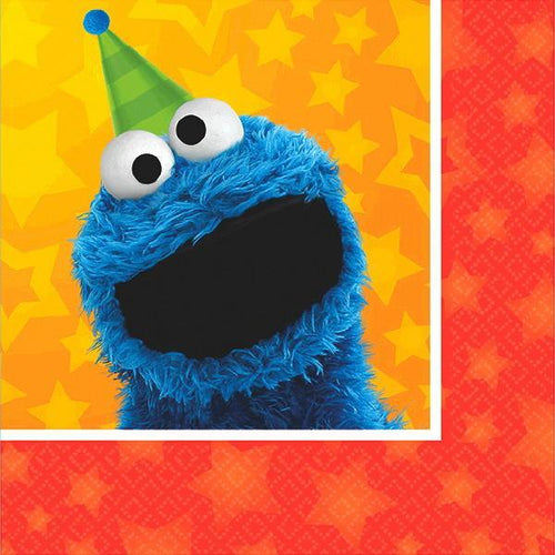 AMSCAN BIRTHDAY Sesame Street® Beverage Napkins 16ct