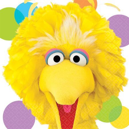 AMSCAN BIRTHDAY Sesame Street Big Bird Lunch Napkins 16ct