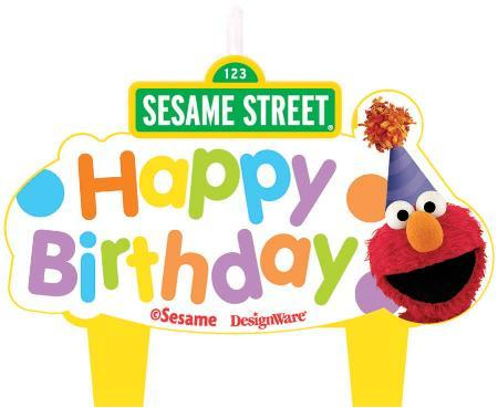 AMSCAN BIRTHDAY Sesame Street Birthday Candles 4ct