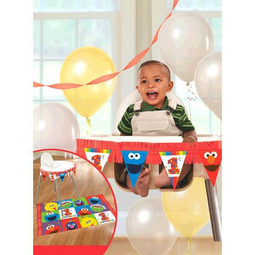 AMSCAN BIRTHDAY Sesame Street® Elmo Turns One High Chair Decorating Kit