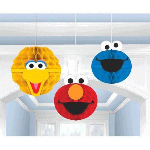 AMSCAN BIRTHDAY Sesame Street Honeycomb Decorations 3pc