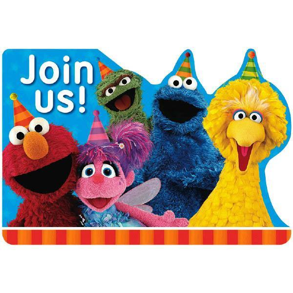 AMSCAN BIRTHDAY Sesame Street® Invitations 8ct