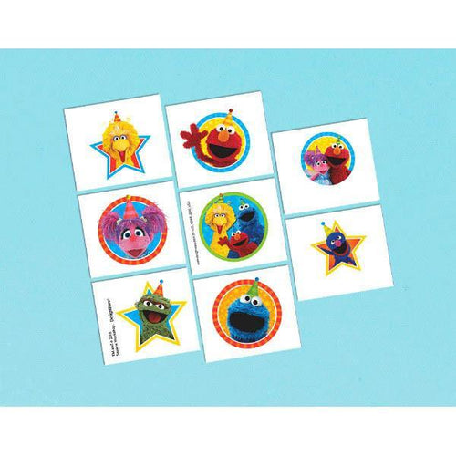 AMSCAN BIRTHDAY Sesame Street® Tattoo Favors 16ct