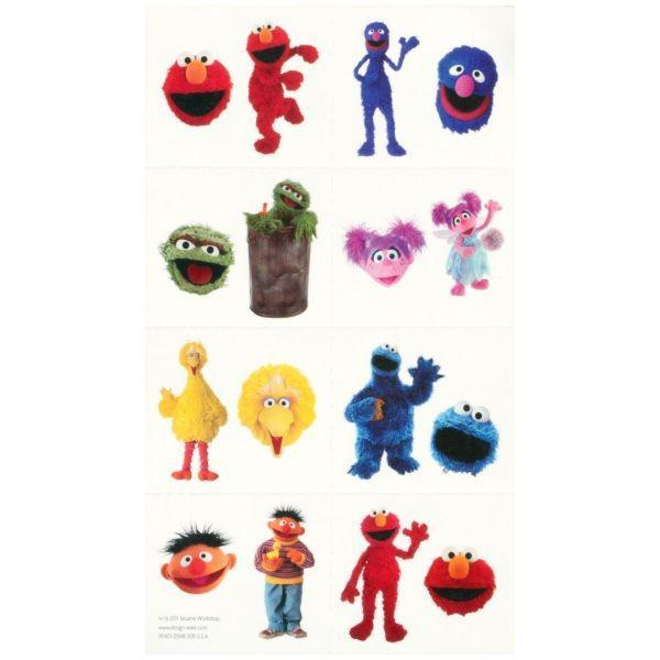 AMSCAN BIRTHDAY Sesame Street Tattoos 16ct