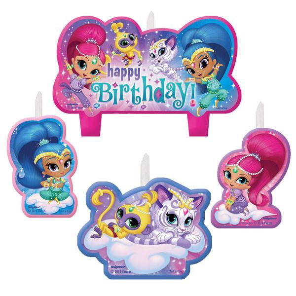 Amscan Birthday Shimmer & Shine Birthday Candle Set