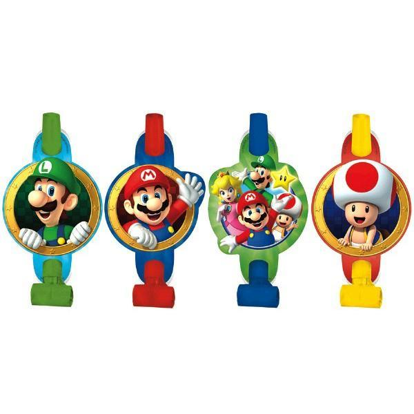 AMSCAN BIRTHDAY Super Mario Brothers (tm) Blowouts 8ct