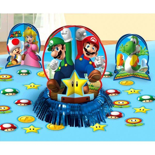 AMSCAN BIRTHDAY Super Mario Brothers (tm) Table Decorating Kit