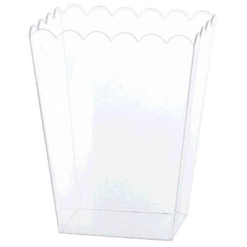 Amscan Candy Buffet Large Clear Plastic Scalloped Container