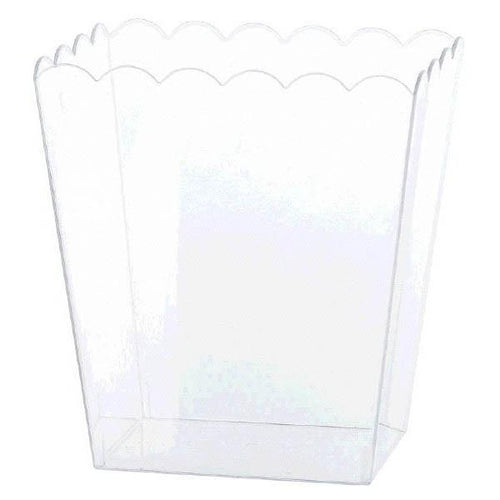 Amscan Candy Buffet Small Clear Plastic Scalloped Container
