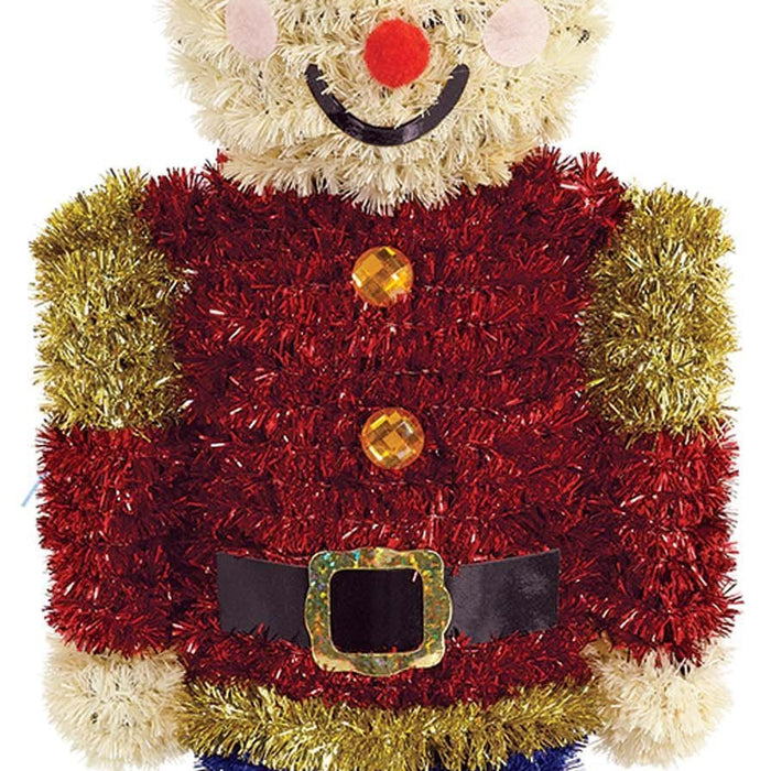 3D Tinsel Nutcracker Decoration